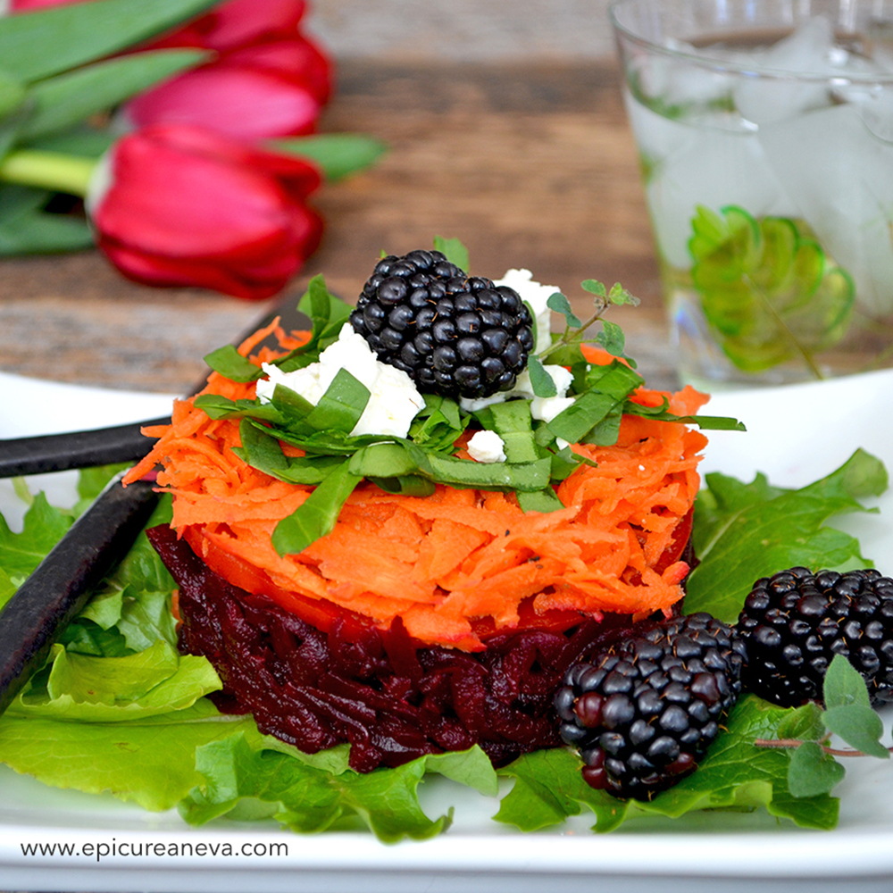 Pickled Carrot & Roasted Beet Tartare Salad {gluten-free}{vegetarian ...