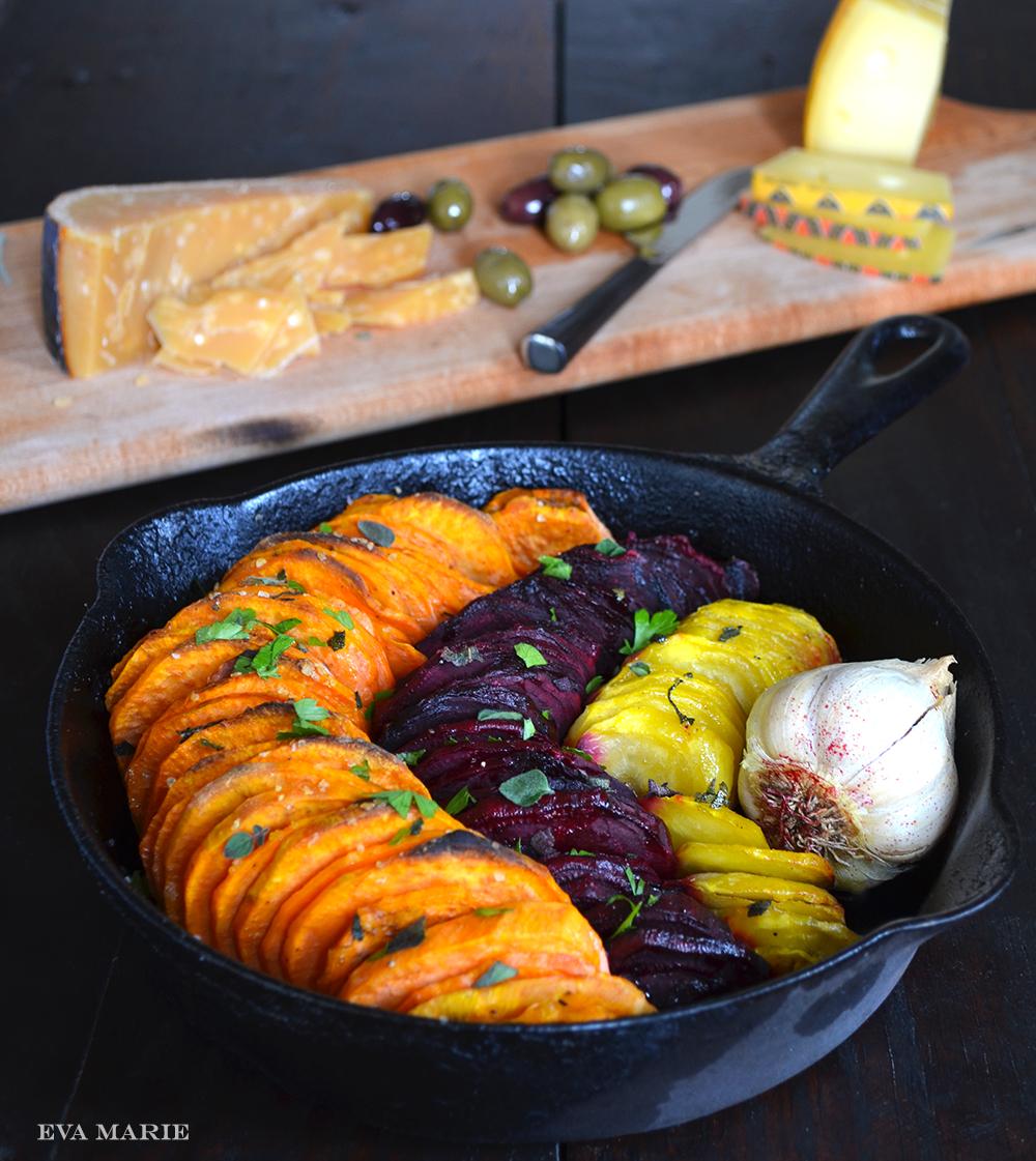Olive Oil And Salt Roasted Sweet Potatoes Beets Epicurean Eva